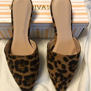 Cheetah Print Mules - Brand New